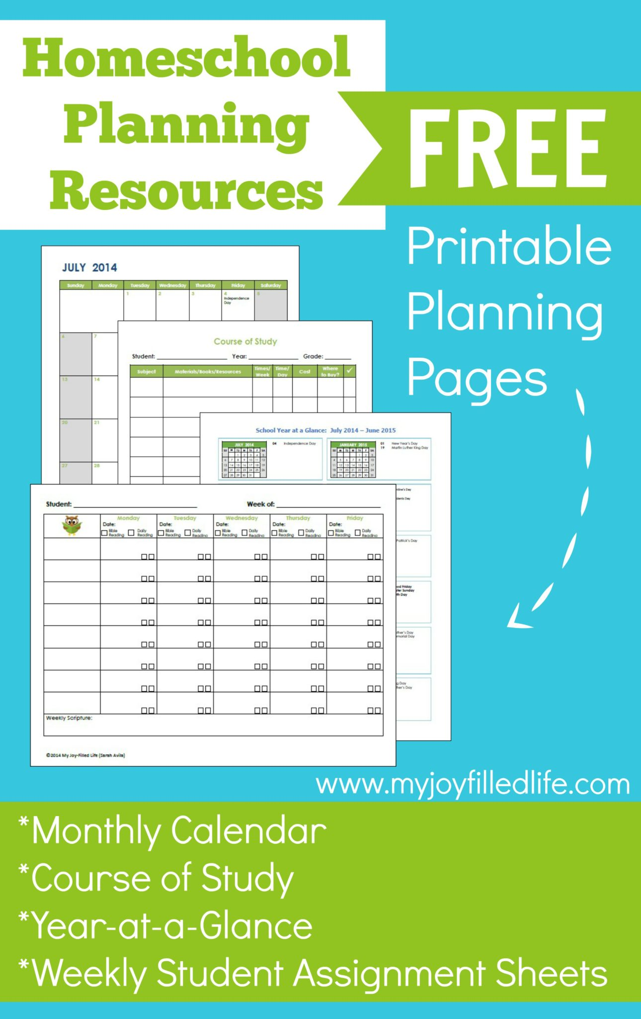Homeschool planning resources free printables my joy for Homeschool id template
