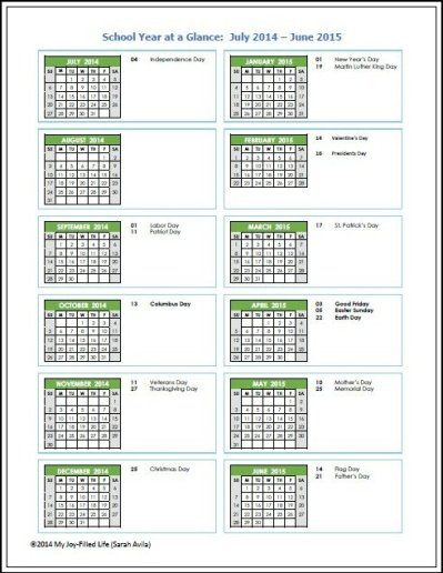School year at a glance 1