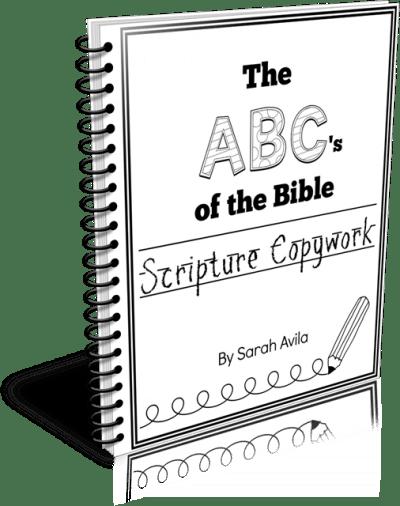 The ABCs of the Bible Scripture Copywork 3d