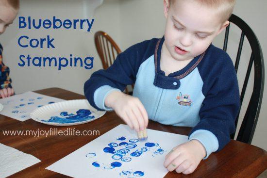 Blueberry cork stamping