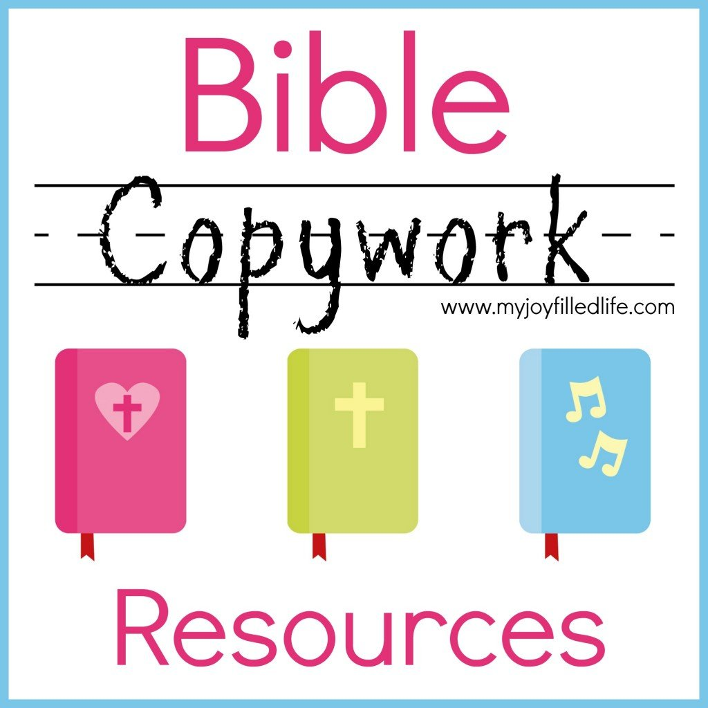 Bible Copywork Resources