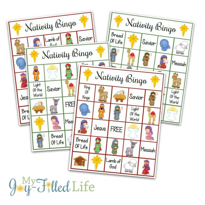 Printable Nativity Bingo Game