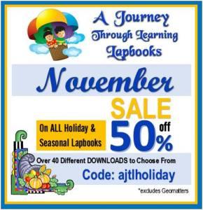 50% Off Holiday & Seasonal Lapbooks