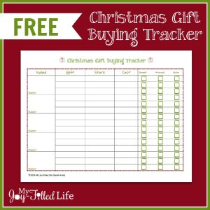Cherished Christmas Gifts & a FREE Printable Christmas Gift Buying Tracker