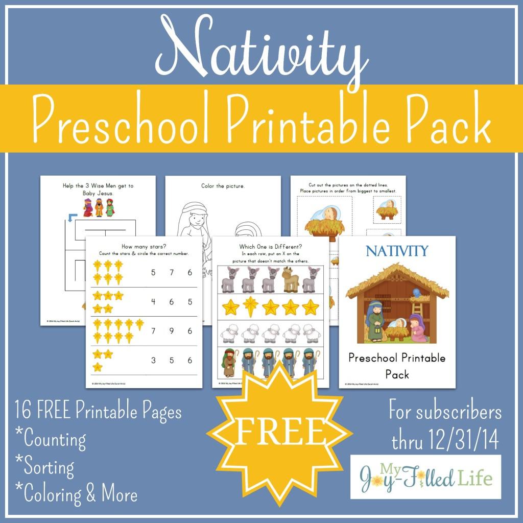 Free Printable Nativity Preschool Pack