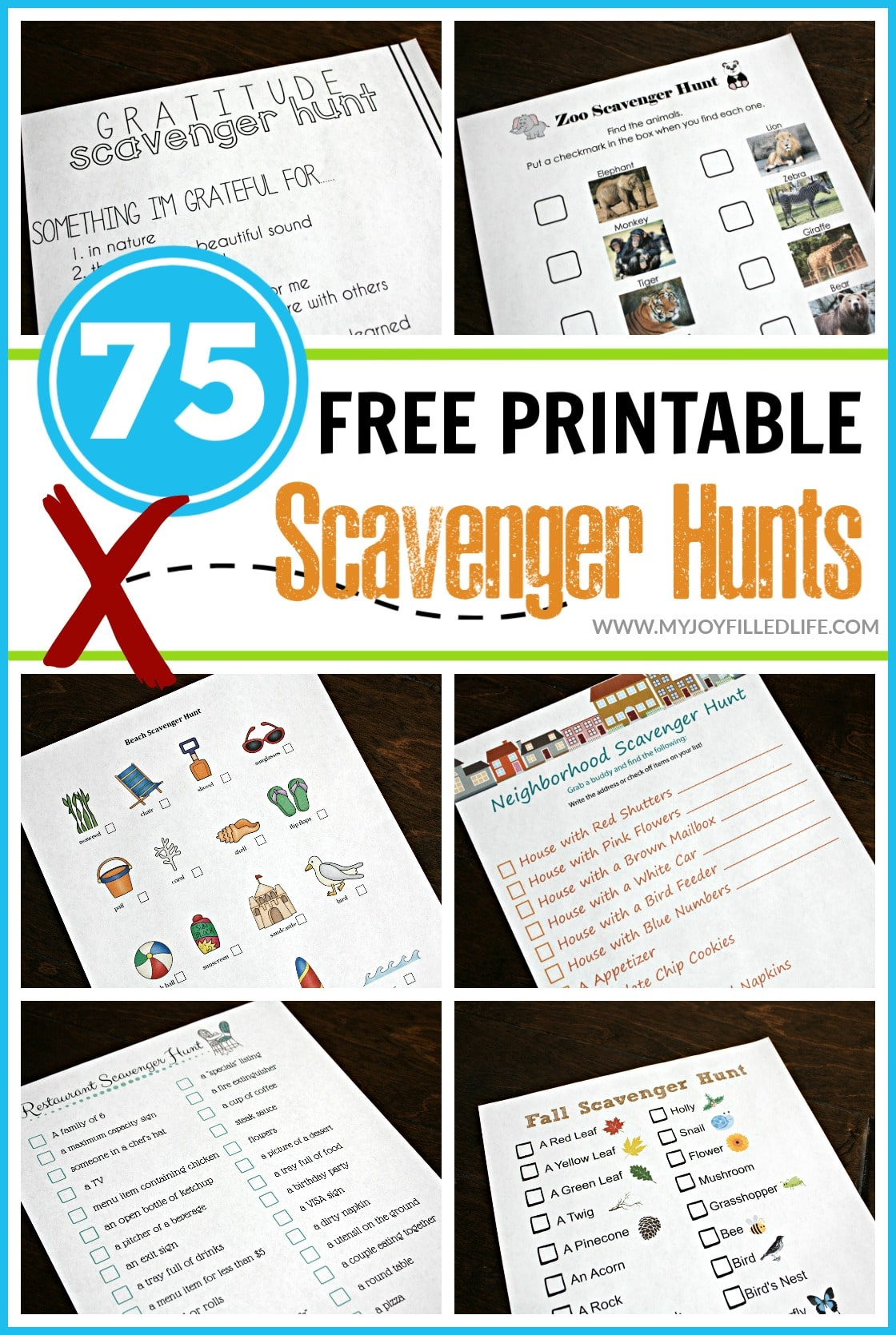 75 Free Printable Scavenger Hunt Pin