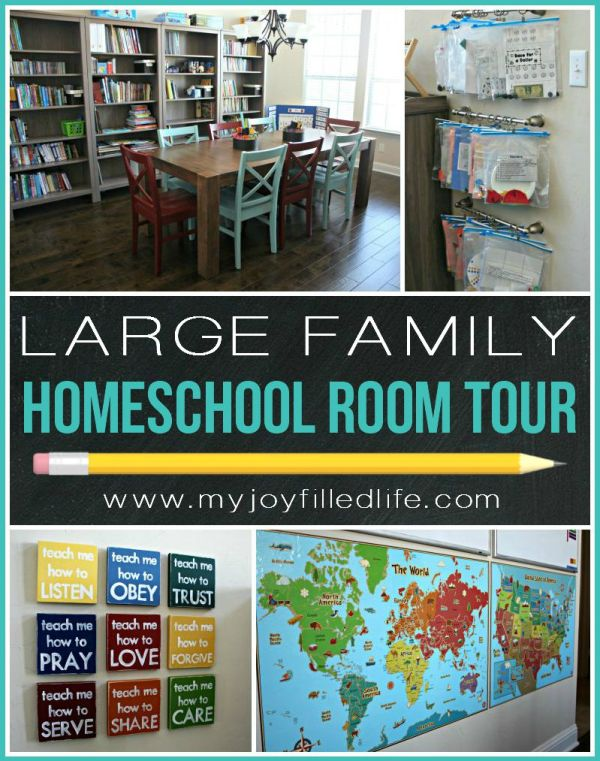 Large Family Homeschool Room