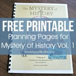 FREE Printable Planning Pages for Mystery of History Vol. 1