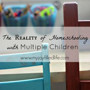 The Reality of Homeschooling  with Multiple Children