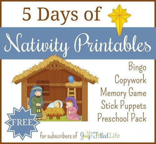 5 Days of Nativity Printables 500 1 1