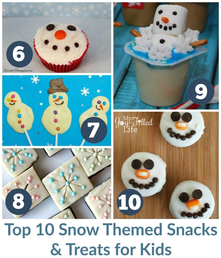 Top 10 Snow Themed Snacks & Treats for Kids