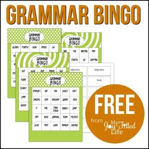 Grammar Bingo – FREE Printable