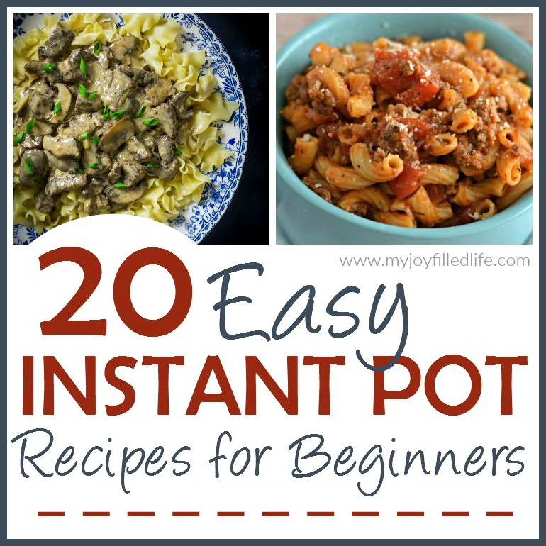 20 Easy Instant Pot Recipes for Beginners