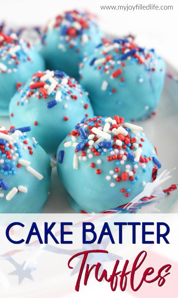 Amazing, Easy to Make Cake Batter Truffles