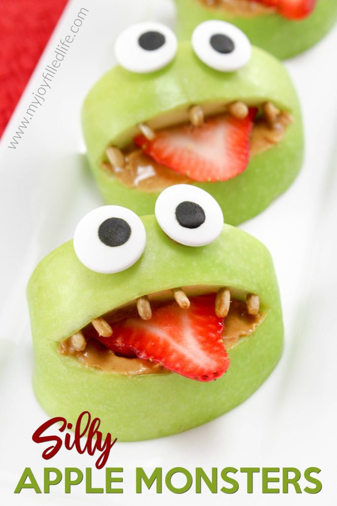 Silly Apple Monsters Snack