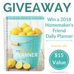 The Flexible Planner for Homemakers & a GIVEAWAY