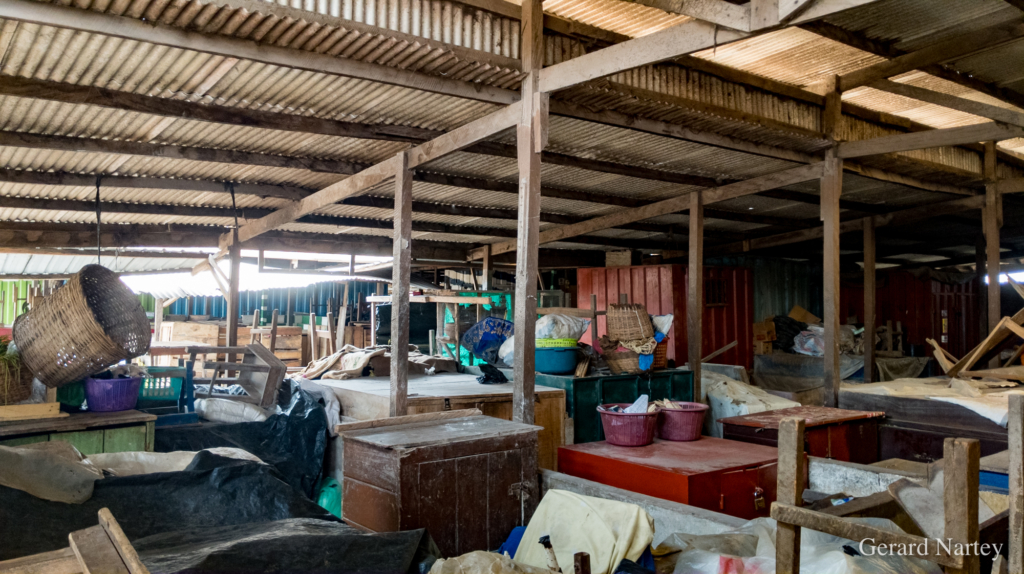 Photos from Accra markets after Monday's fumigation exercise