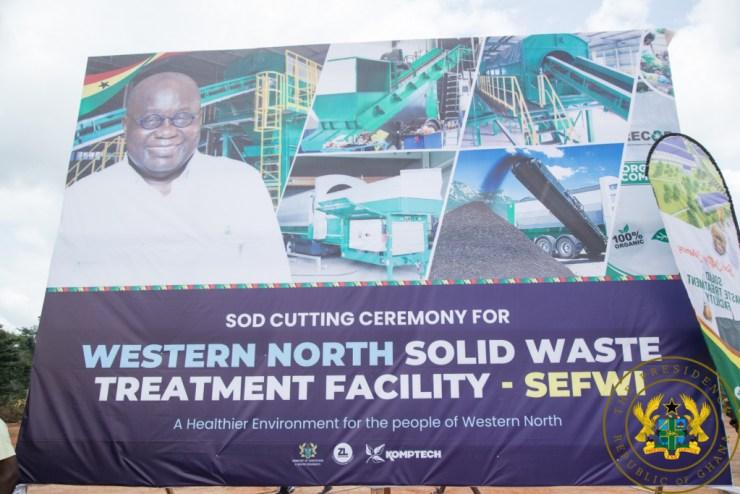 Akufo-Addo Cuts Sod For €15m Waste Treatment Facility In Western North Region. 6