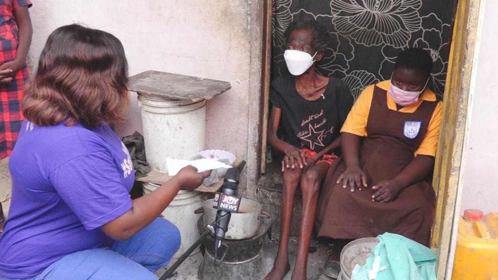 Georgina Yawa Ankrah: The Rebecca Foundation Donates To Crippled Woman And Her Disable Kids | Video Photos 1