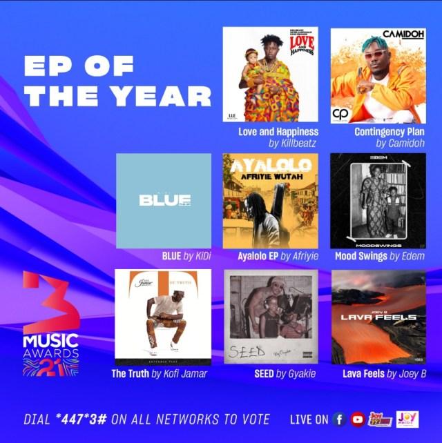 3Music Awards 2021 nominees