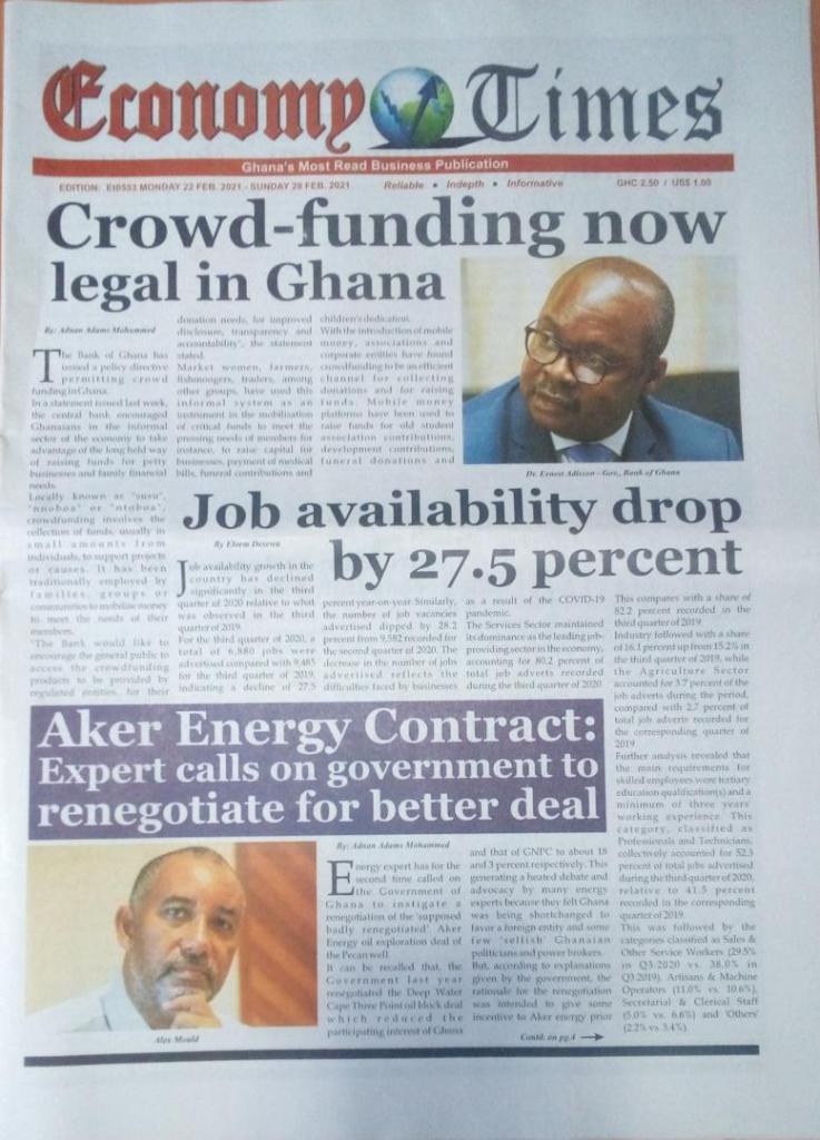 Newspaper headlines of Tuesday, February 23, 2021 18