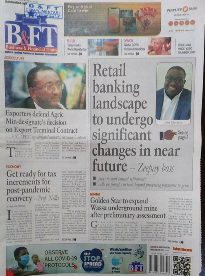 Newspaper headlines of Thursday, March 4, 2021 4