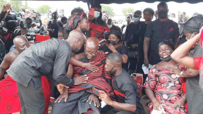 Photos: Slain police officer, Emmanuel Osei goes home today