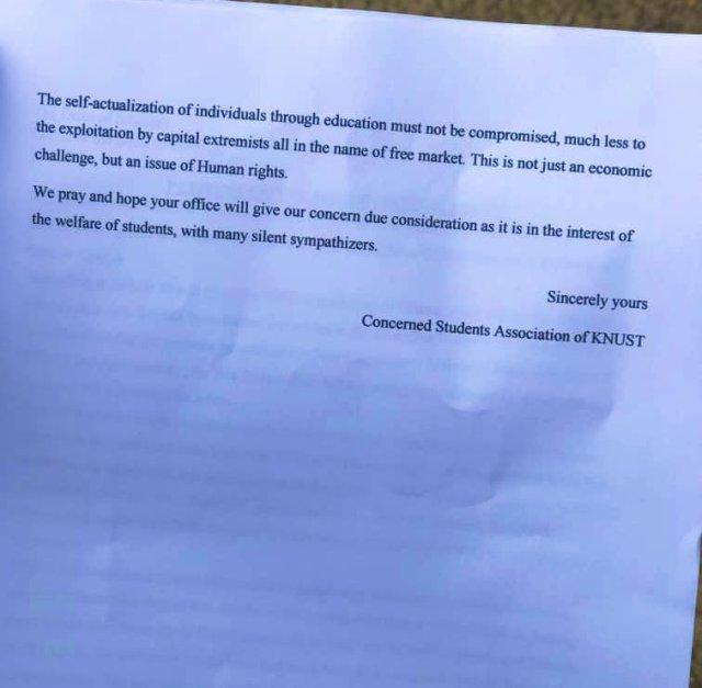KNUST students protest high hostel rent, petition management