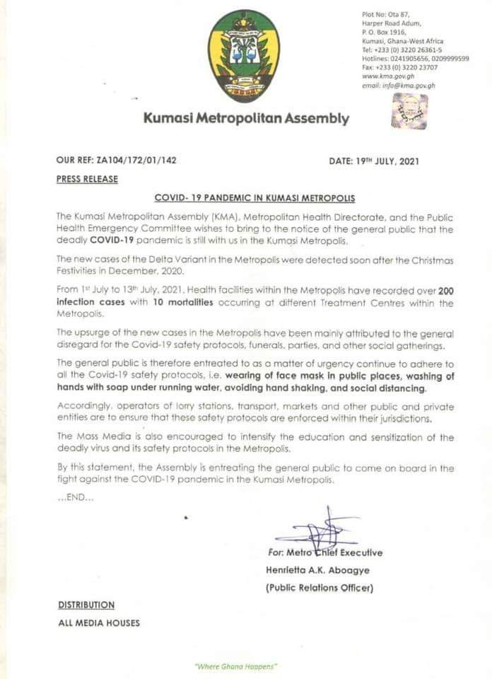 KNUST records 'astronomical upsurge' in Covid-19 cases