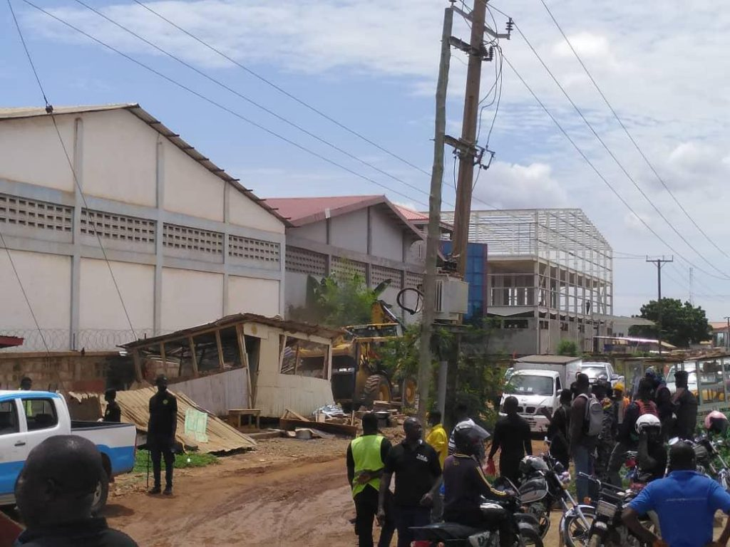 Demolition of illegal structures along Tema Motorway ends on Wednesday