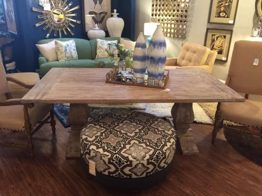 I was blown away by the selection of upholstered pieces, light fixtures and artwork at Designs by Ave in downtown St. Charles.