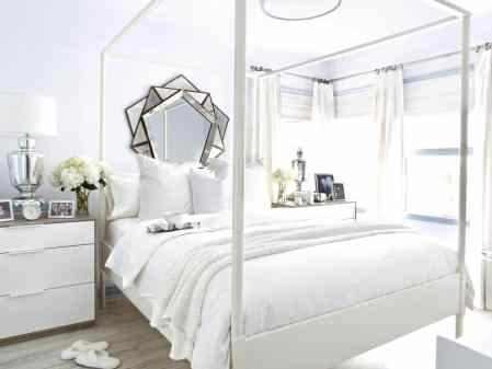 All white rooms bring simplicity to an otherwise crazy life