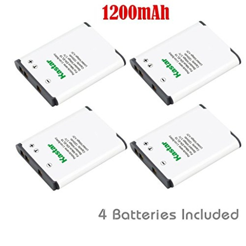 Kastar EN-EL19 Battery (4 X) for Nikon Coolpix S32 S100