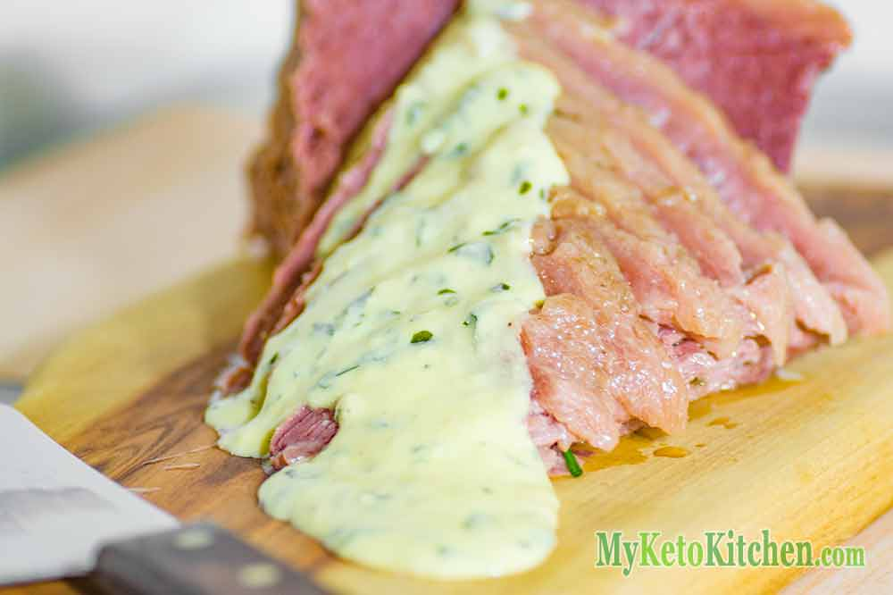 Corned Beef with Low Carb Mustard Sauce