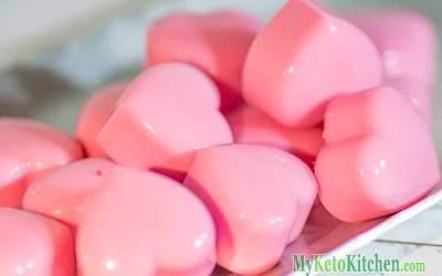 Raspberry Cream Heart Fat Bombs