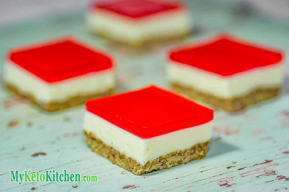 Low Carb Jelly Slice Ketogenic Dessert