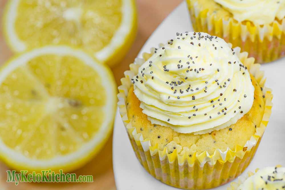 Ketogenic Lemon Poppy Seed Cupcakes