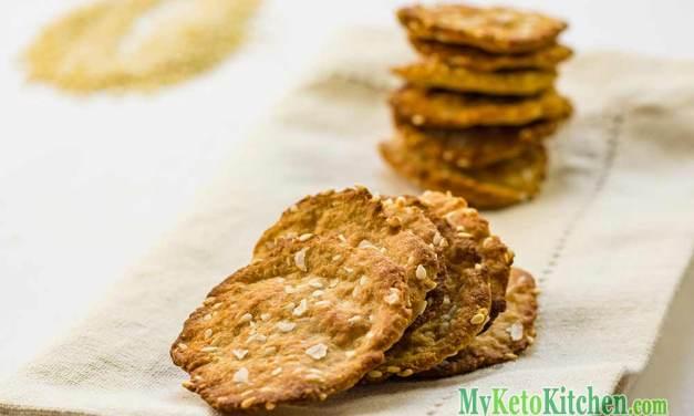Keto Crackers Recipe – Sesame Sea Salt Flavor