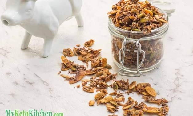 Keto Cereal Recipe – Breakfast Cinnamon Crunch – Sugar Free & Gluten Free!