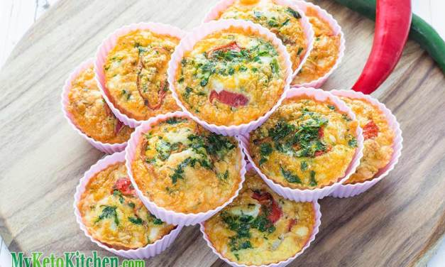 Low Carb Spanish Chorizo and Manchego Egg Muffins