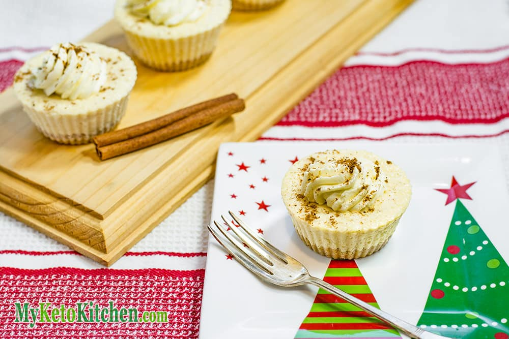 Low Carb EggNog Cheesecake