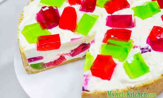 Keto Jello Cheesecake – Sugar Free, No-Bake & Tasty Crust!