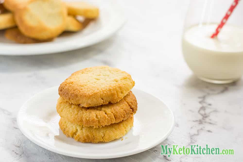 Keto Vanilla Shortbread Cookies