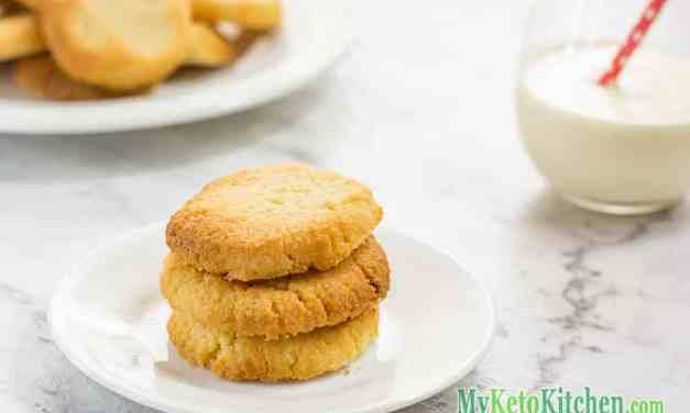 Keto Shortbread Cookies – Low Carb Vanilla – Easy Homemade