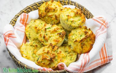 Low Carb Cheddar Cheese & Zucchini Muffins