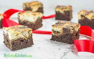 Low Carb Cheesecake Swirl Brownies