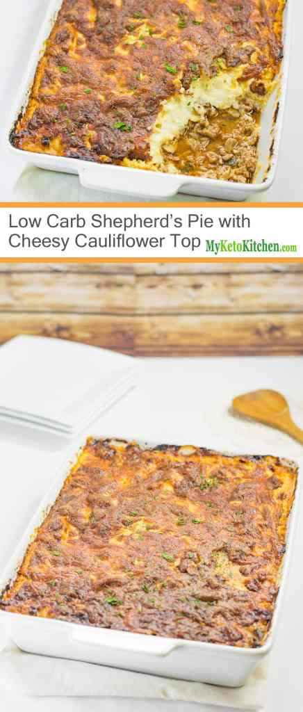 Low Carb Shepherd's Pie with Cheesy Cauliflower Topping