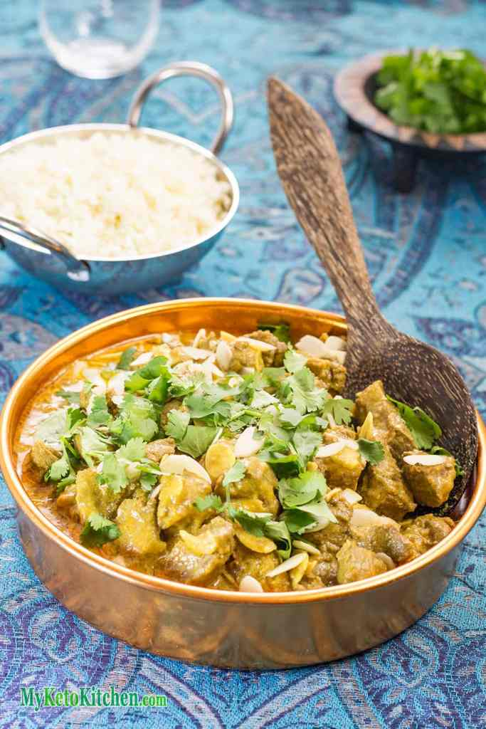 Creamy low carb Indian Madras Lamb Curry recipe