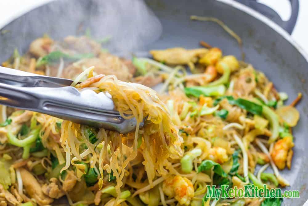 Low Carb Combination Singapore Noodles