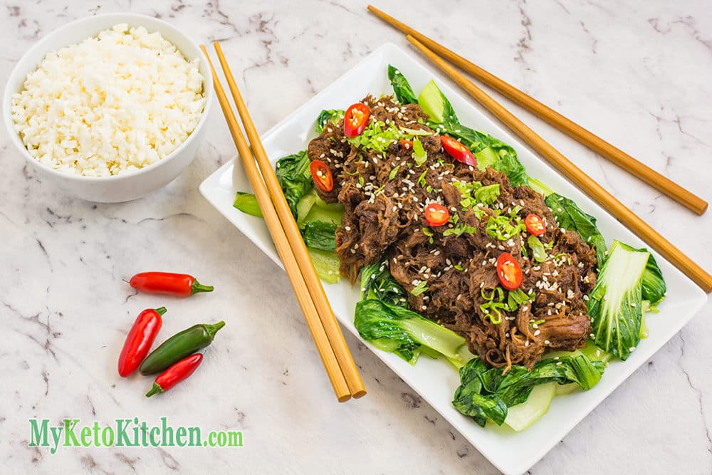 Low Carb Asian Style Shredded Beef
